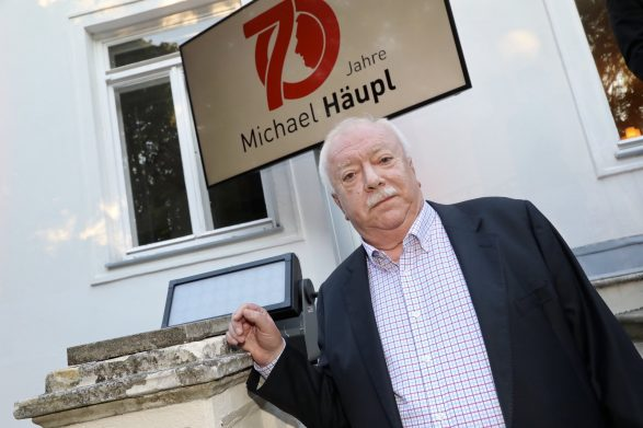 Altbürgermeister Michael Häupl mit Bürgermeister Michael Ludwig